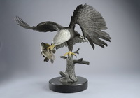 'The Eagle Has Landed' bronze sculpture by Miles Tucker.